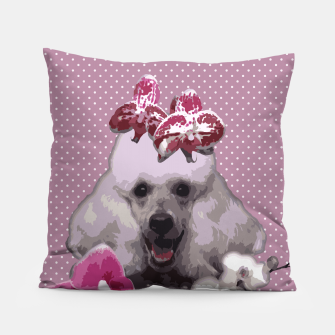Thumbnail image of  Pink poodle Pillow, Live Heroes