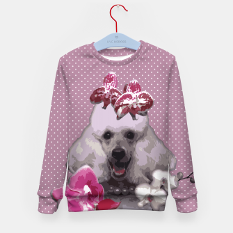Thumbnail image of  Pink poodle Kid's Sweater, Live Heroes