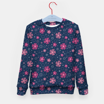 Miniature de image de Carthusian Pink Embroidery Kid's Sweater, Live Heroes