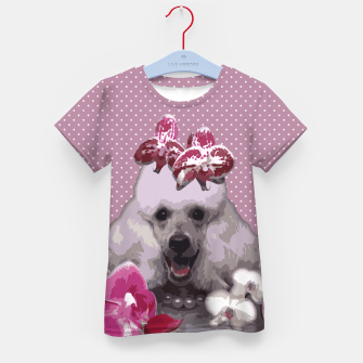Thumbnail image of  Pink poodle Kid's T-shirt, Live Heroes