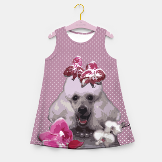 Thumbnail image of  Pink poodle Girl's Summer Dress, Live Heroes