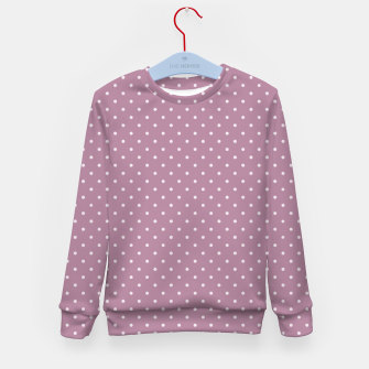 Thumbnail image of Pink polka dots Kid's Sweater, Live Heroes