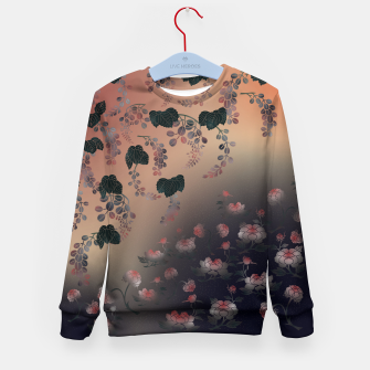 Miniature de image de Japanesque flower decoration Kid's Sweater, Live Heroes