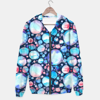 Miniatur Pink and Blue Watercolor Universe Hoodie, Live Heroes