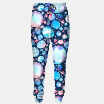 Thumbnail image of Pink and Blue Watercolor Universe Sweatpants, Live Heroes