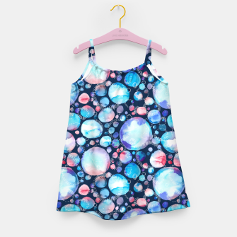 Thumbnail image of Pink and Blue Watercolor Universe Girl's Dress, Live Heroes