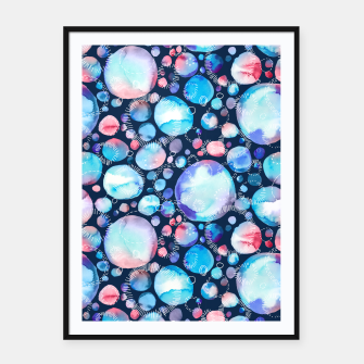 Miniature de image de Pink and Blue Watercolor Universe Framed poster, Live Heroes