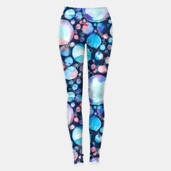 Thumbnail image of Pink and Blue Watercolor Universe Leggings, Live Heroes