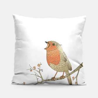 Thumbnail image of Songbird Robin Pillow, Live Heroes