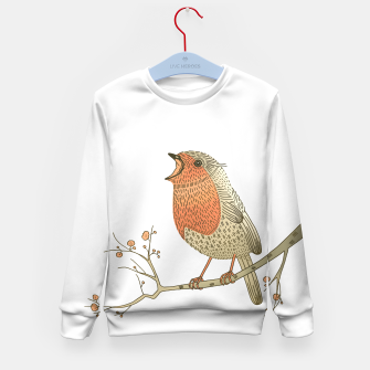 Thumbnail image of Songbird Robin Kid's Sweater, Live Heroes