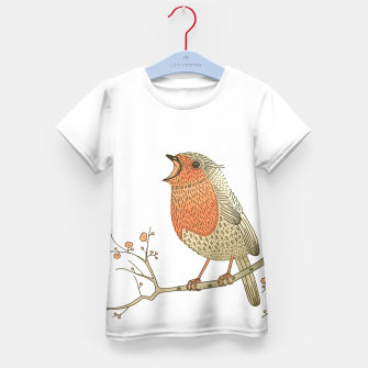 Thumbnail image of Songbird Robin Kid's T-shirt, Live Heroes