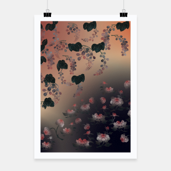 Thumbnail image of Japanesque flower decoration Poster, Live Heroes