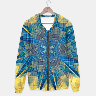 Miniatur mandala -mosaic blue and yellow Bluza z kapturem, Live Heroes
