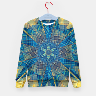 Thumbnail image of mandala -mosaic blue and yellow Bluza dziecięca, Live Heroes