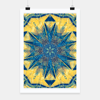 Thumbnail image of mandala -mosaic blue and yellow Plakat, Live Heroes