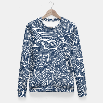 Miniature de image de Blue Cabbage Labyrinth Fitted Waist Sweater, Live Heroes