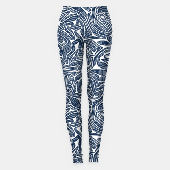 Thumbnail image of Blue Cabbage Labyrinth Leggings, Live Heroes