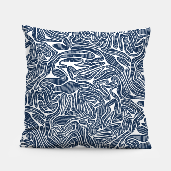 Thumbnail image of Blue Cabbage Labyrinth Pillow, Live Heroes