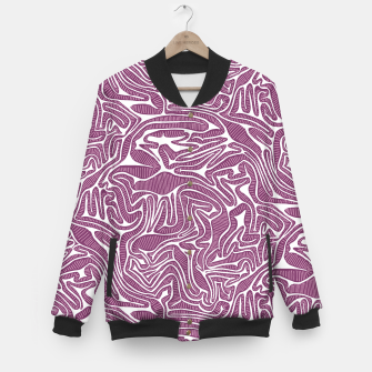 Miniatur Red Cabbage Labyrinth Baseball Jacket, Live Heroes
