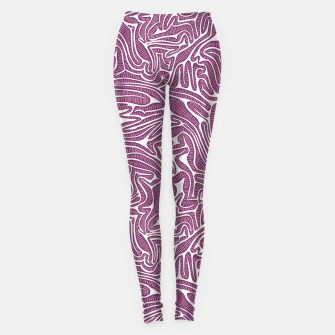 Thumbnail image of Red Cabbage Labyrinth Leggings, Live Heroes