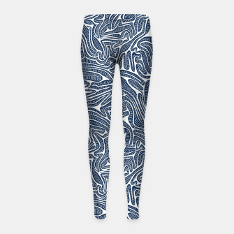 Thumbnail image of Blue Cabbage Labyrinth Girl's Leggings, Live Heroes