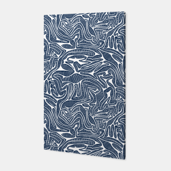 Thumbnail image of Blue Cabbage Labyrinth Canvas, Live Heroes