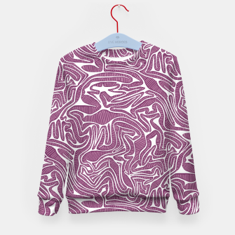 Miniature de image de Red Cabbage Labyrinth Kid's Sweater, Live Heroes