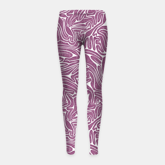 Thumbnail image of Red Cabbage Labyrinth Girl's Leggings, Live Heroes