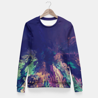Miniatur Explosive Colors Fitted Waist Sweater, Live Heroes
