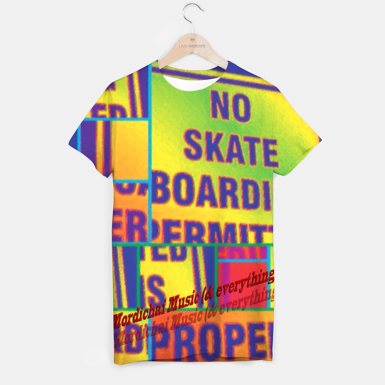 Image of No Skateboarding Permitted tshirt - Live Heroes