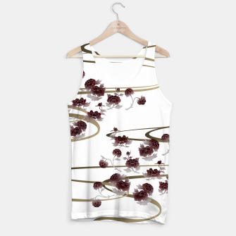Miniatur red peony Japanesque Tank Top, Live Heroes