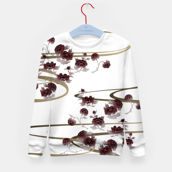 Thumbnail image of red peony Japanesque Kid's Sweater, Live Heroes