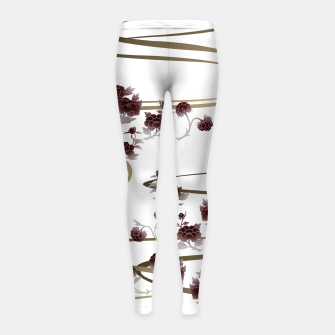 Thumbnail image of red peony Japanesque Girl's Leggings, Live Heroes