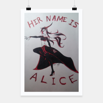 Thumbnail image of Black Blood Alice Poster, Live Heroes