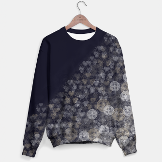 Miniatur Japanese Kamon decoration blue white Sweater, Live Heroes