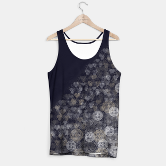 Miniatur Japanese Kamon decoration blue white Tank Top, Live Heroes
