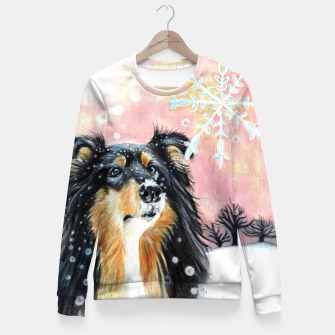 Miniature de image de winter collie Fitted Waist Sweater, Live Heroes