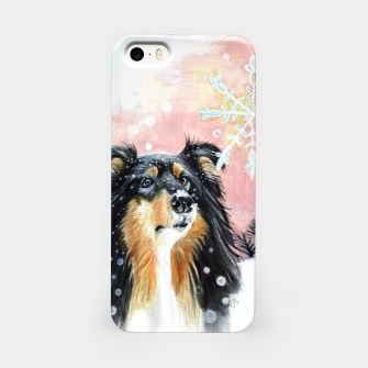 Thumbnail image of winter collie iPhone Case, Live Heroes