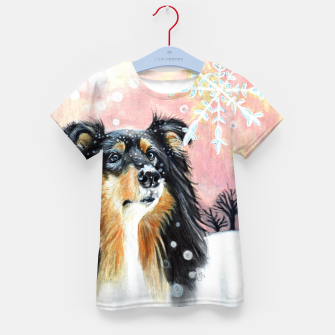 Miniatur winter collie Kid's T-shirt, Live Heroes
