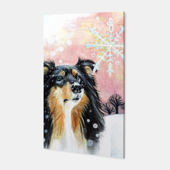 Thumbnail image of winter collie Canvas, Live Heroes