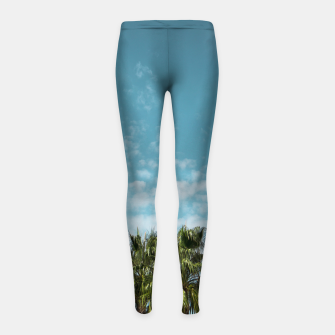 Thumbnail image of Good vibes. Tropical Girl's Leggings, Live Heroes