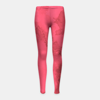 Thumbnail image of Red Flows Girl's Leggings, Live Heroes