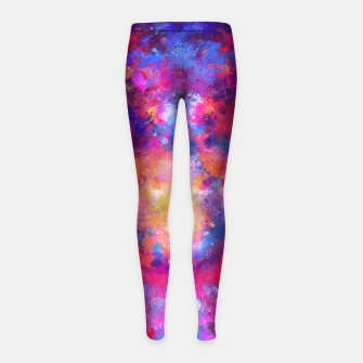 Miniaturka Abstract Painting Girl's Leggings, Live Heroes