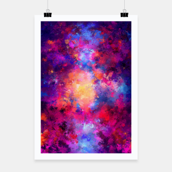 Thumbnail image of Abstract Painting Poster, Live Heroes