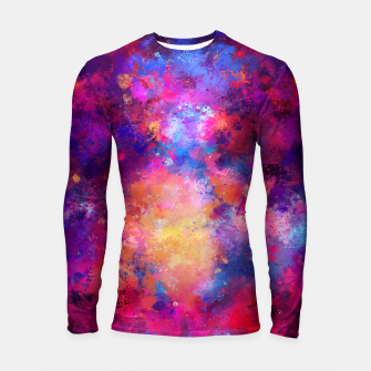 Miniature de image de Abstract Painting Longsleeve Rashguard , Live Heroes