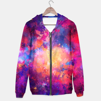 Miniatur Abstract Painting Hoodie, Live Heroes
