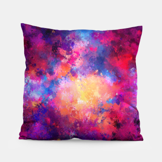 Thumbnail image of Abstract Painting Pillow, Live Heroes