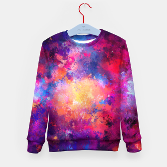 Thumbnail image of Abstract Painting Kid's Sweater, Live Heroes