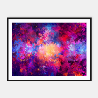 Miniaturka Abstract Painting Framed poster, Live Heroes