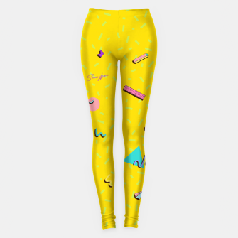 Thumbnail image of Yellow 90s by The Sonnyfive Leggings, Live Heroes